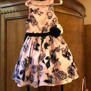 Tie back navy and pink toddler dress!